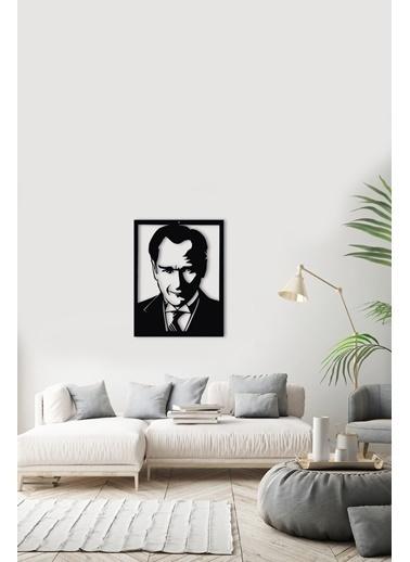 Angemiel Home Atatürk Metal Duvar Tablosu Siyah